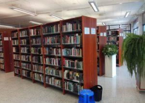 kirjaston hyllyt